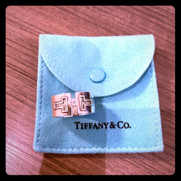 "Tiffany & Co. Jewelry - Tiffany ""T"" ring sterling silver"